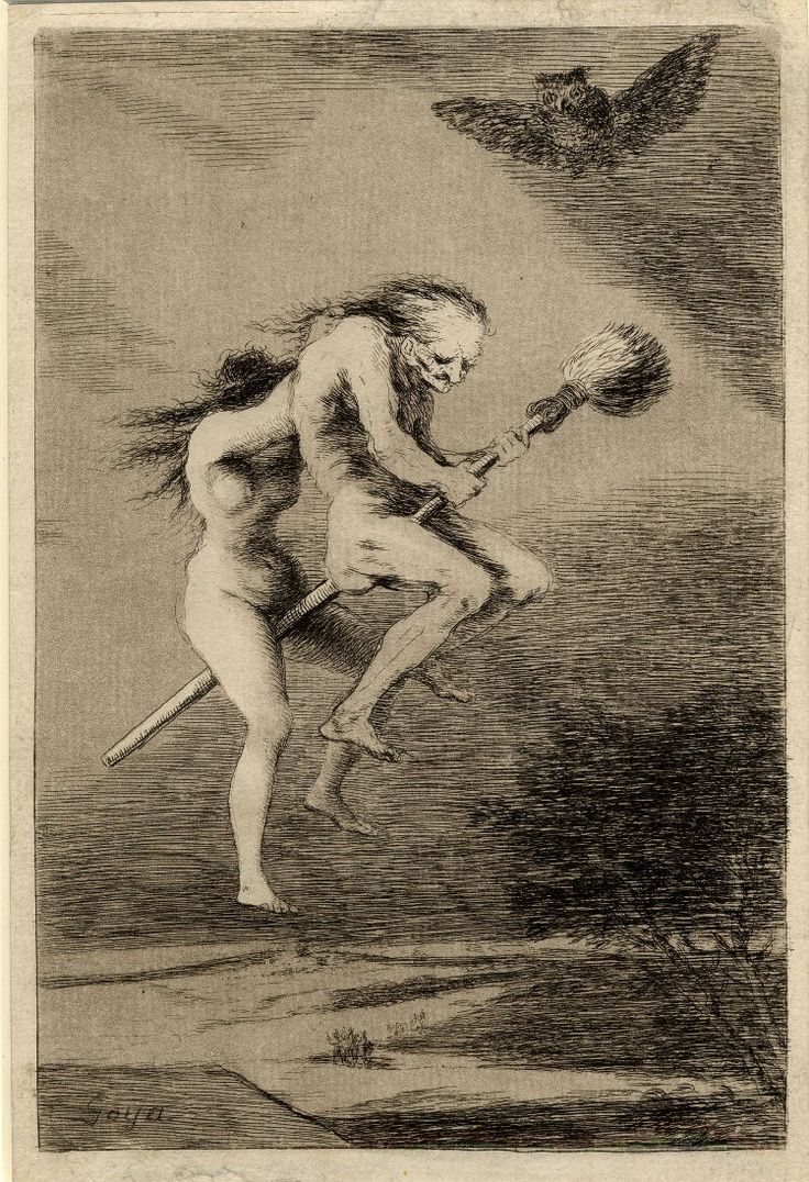 Goya witch flight